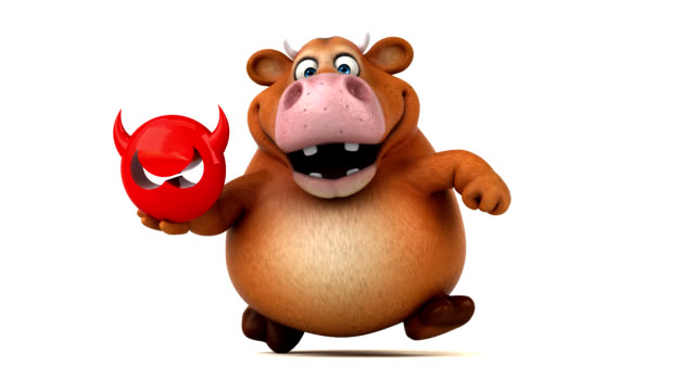 Fun cow - 3D Animation Fun cow - 3D Animation antivirus software stock videos & royalty-free footage