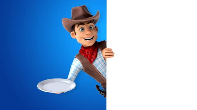 fun cowboy - 3d animation - поститься стоковые видео и кадры b-roll