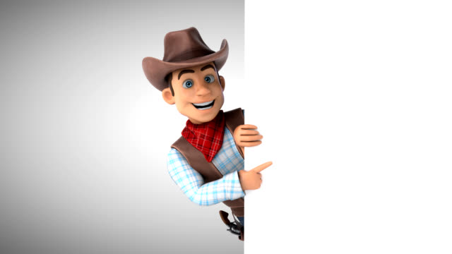 fun cowboy - 3d animation with alpha channel - cowboy video stock e b–roll
