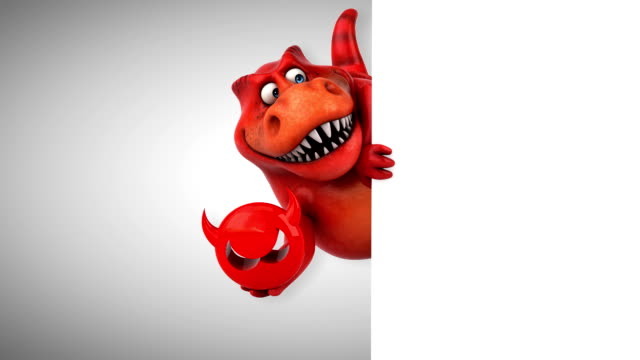 fun dino - 3d animation - antivirus video stock e b–roll