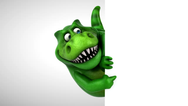 fun dinosaur - 3d animation - clip art video stock e b–roll