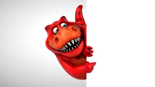 vídeos de stock e filmes b-roll de fun dinosaur - 3d animation - characters