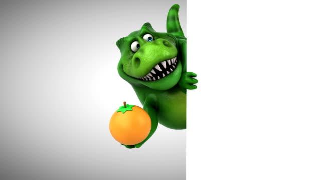 rolig dinosaurie - 3d-animering - tyrannosaurus rex bildbanksvideor och videomaterial från bakom kulisserna