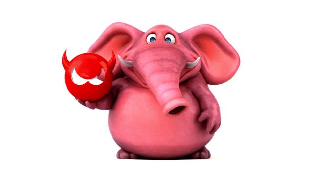 fun elephant - 3d animation - antivirus video stock e b–roll