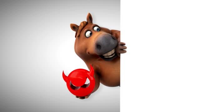 fun horse - 3d animation - antivirus video stock e b–roll