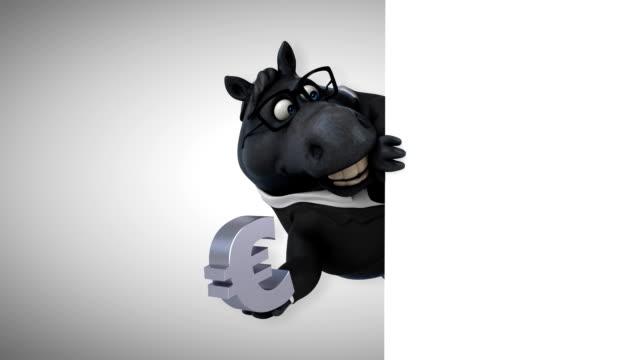 楽しい馬の 3 d アニメーション - 動物に乗る点の映像素材/bロール