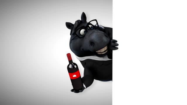 cavallo divertente - animazione 3d - stallone video stock e b–roll