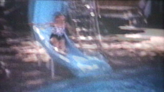 Fun In The Swimming Pool (1974 Vintage 8mm film)