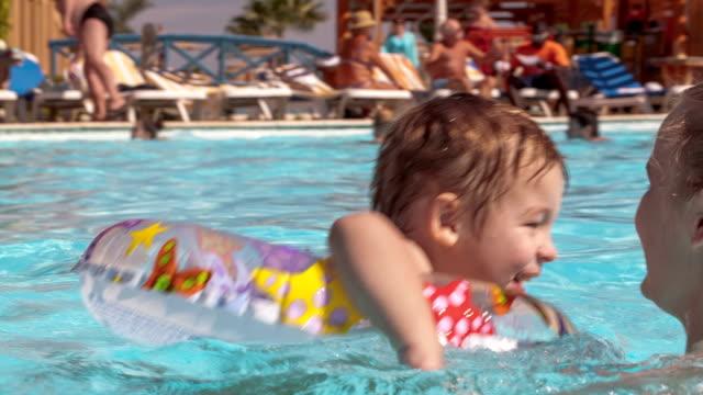 Fun in the swimming pool video