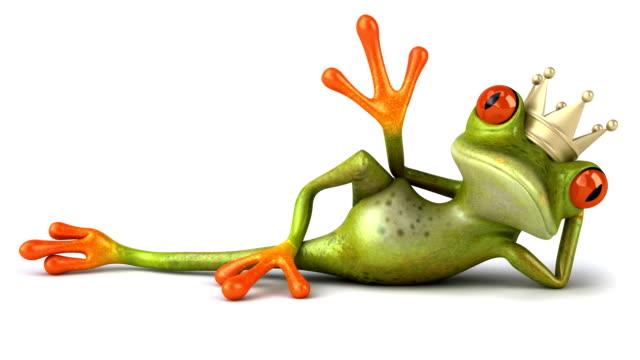 Fun king frog video