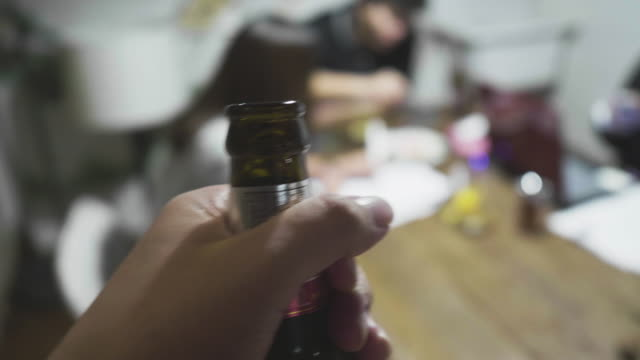 fun meeting at home (real life) - bachelor party stock videos and b-roll footage