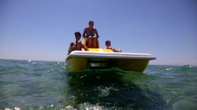 Fun on the pedal boat in the summer video