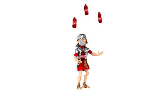 Fun roman soldier - 3D Animation video
