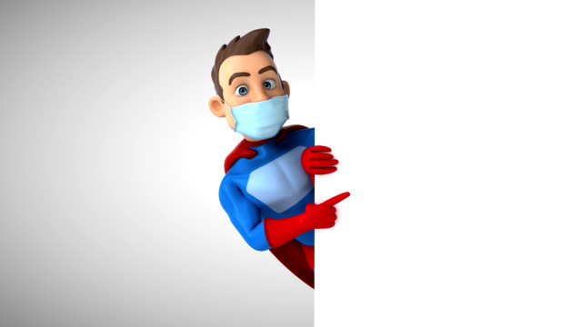 Fun superhero with a mask video