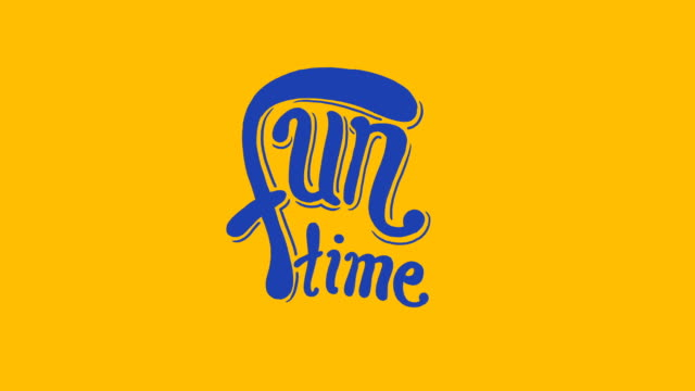 Fun Time - Inscription Fun Time - Inscription. Classic Animation. typescript stock videos & royalty-free footage