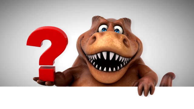 fun trex- 3d animation - clip art video stock e b–roll