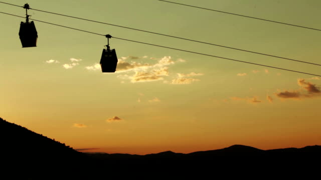 Funicular at sunset video