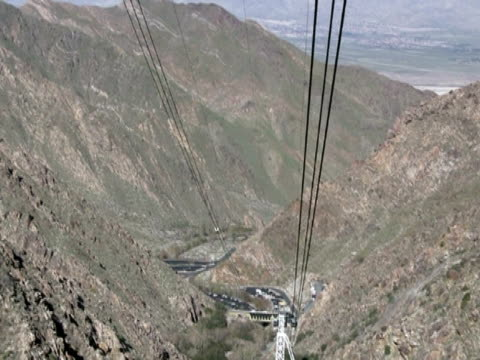 Funicular / Cable Car View Downwards video