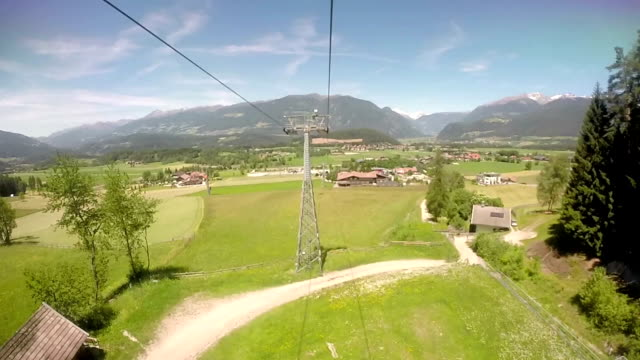 Funicular in Dolomits Alps, Italy video