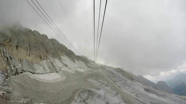 Funicular to Mountain Marmolada, Dolomites Alps, Italy video