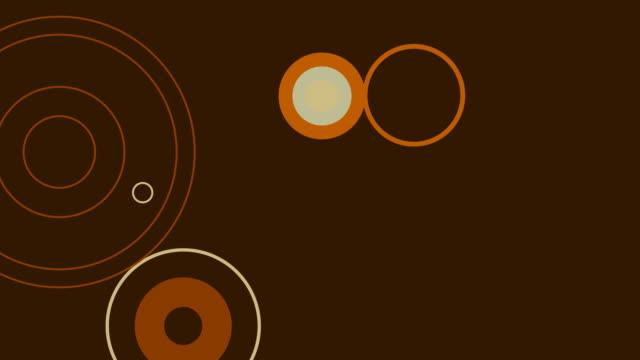 Funky Retro Brown Circles video