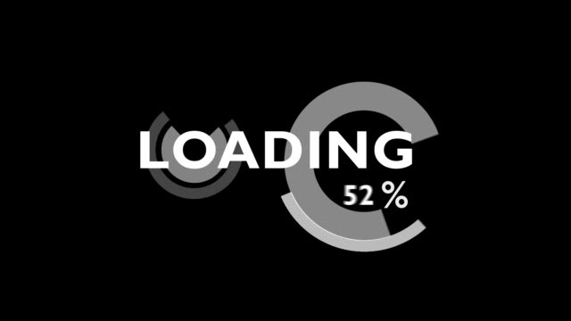 Funny Colorful Loading Bars Full HD Animation [Alpha included] video