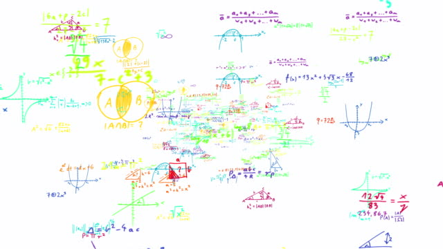 Funny Colorful Maths Symbols Zoom Out Loopable full HD video