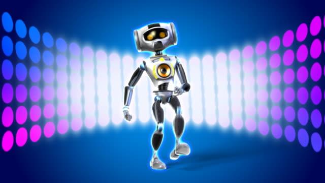 Funny dancing robot video