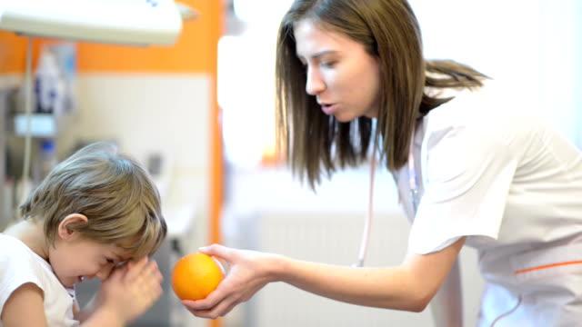 Funny Kid at medical visit video