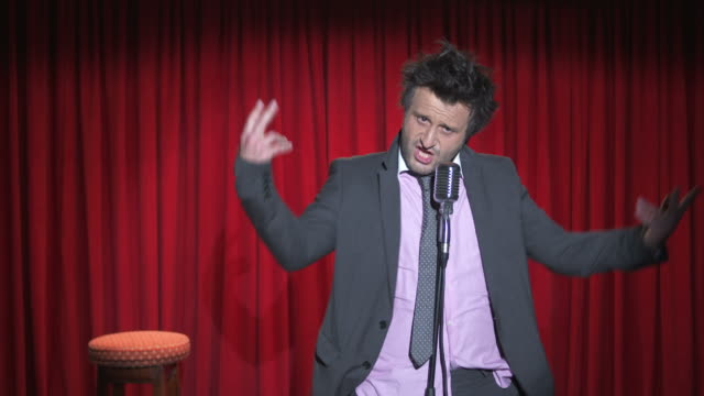 HD: Funny Messy Comedian On Stage video