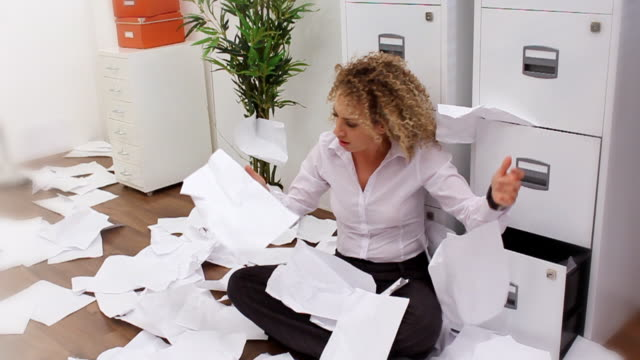 Funny paperwork avalanche video