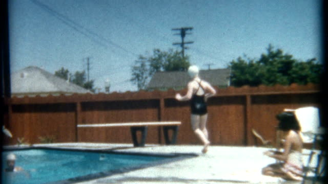 Funny Pool Dive 1952