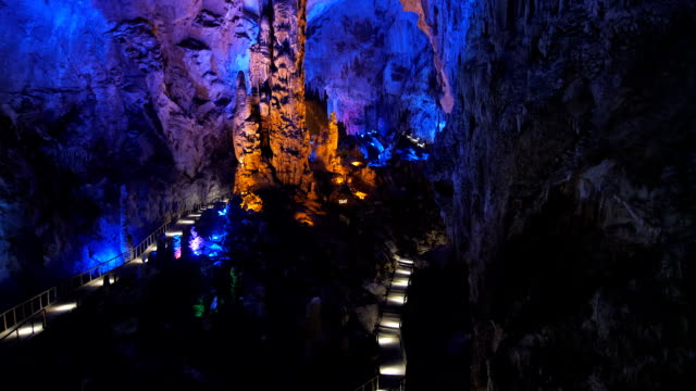Furong Cave of the Wulong Karst UNESCO world heritage site video