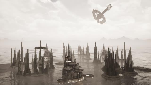 Gelecek şehir 3D animasyon video