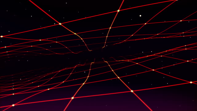 linee future spazio di viaggio - campo gravitazionale video stock e b–roll