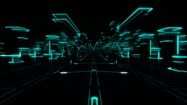 Futuristic abstract background. Cyan. Loopable. Technology. Hologram. video