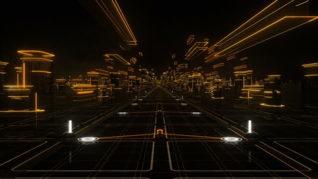 Futuristic abstract background, orange. Loopable. Technology. video