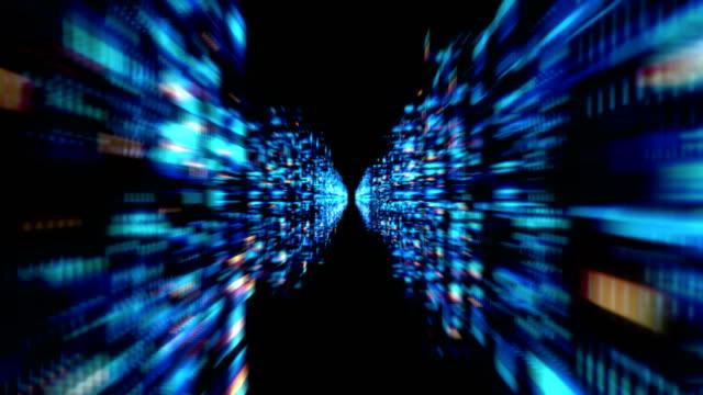 stockvideo's en b-roll-footage met 3d futuristische abstracte achtergrond - datacenter