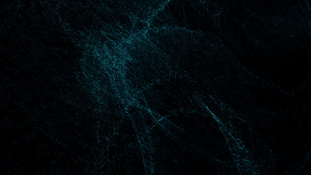 Futuristic animation with glowing particles in slow motion, loop HD 1080p video