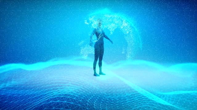 Video Futuristic Artificial Intelligence Simulation
