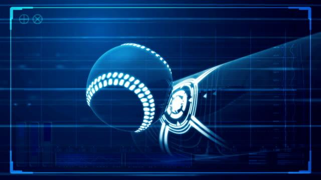 futuristic ball hit baseball and tech data 1 video