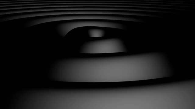 Futuristic Black waves tech able to loop seamless 4k
