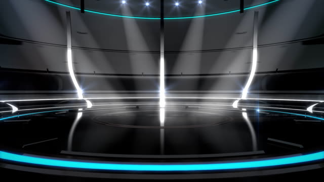 Futuristic black/white/cyan neon background video