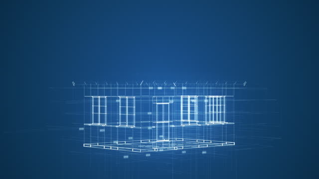futuristische cad-software-schnittstelle - architektur stock-videos und b-roll-filmmaterial