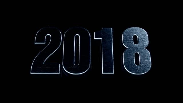 vidéos et rushes de futuriste texte animé 3d cinématographique - 2018 - 2018