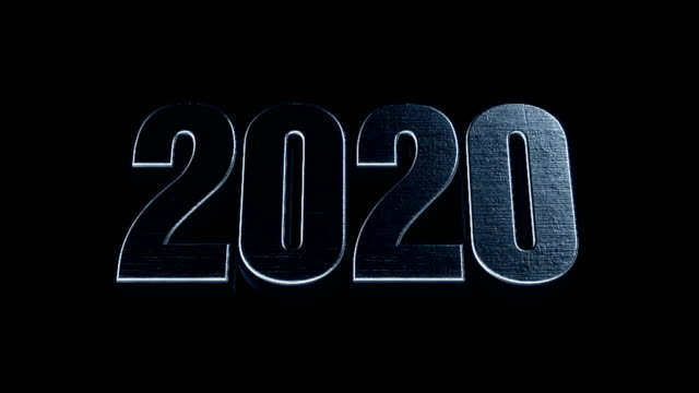 Futuristic Cinematic 3d Animated Text - 2020 Futuristic Cinematic 3d Animated Text - 2020 2020 stock videos & royalty-free footage