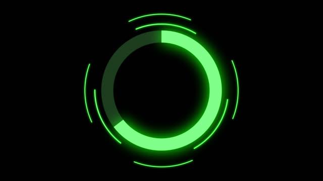 vídeos de stock, filmes e b-roll de animação futurista da barra do progresso do círculo - carregamento atividade