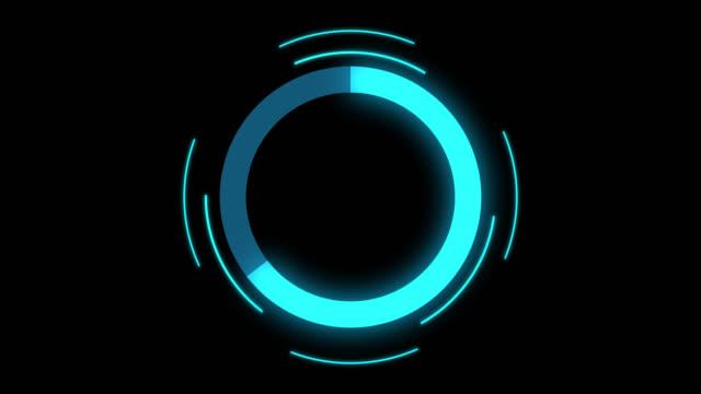 futuristisk cirkel förloppsindikator animering - fylld bildbanksvideor och videomaterial från bakom kulisserna