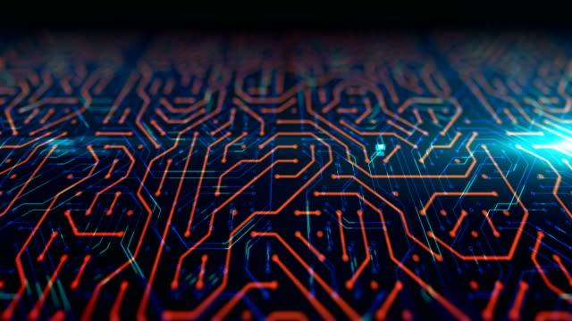 未来的な回路パターンの抽象的な背景映像。 - 機械部品点の映像素材/bロール