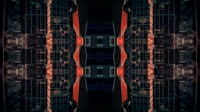 未来都市万華鏡抽象的な背景 - シュールレアリズム点の映像素材/bロール